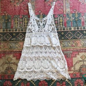 Dresses & Skirts - DULCIE White crochet cover up dress